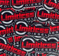"""Limitless Diesel - Red/Silver Clutch Stickers 3-Pack  3x1.5"""" - Image 2"""
